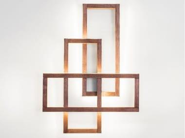 Lampada da parete a LED in legno TRINITY
