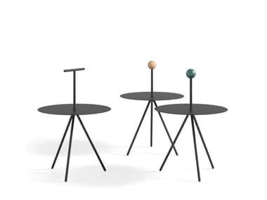 Tavolino rotondo in acciaio verniciato a polvere TRINO