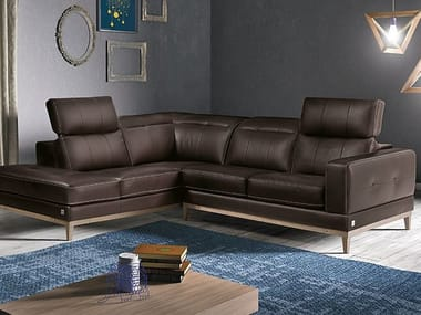 Corner Sofa With Headrest TRIO. Franco Ferri Italia