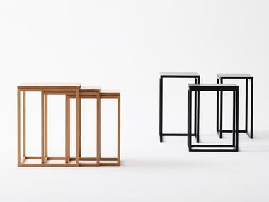 Stackable square coffee table TRIO