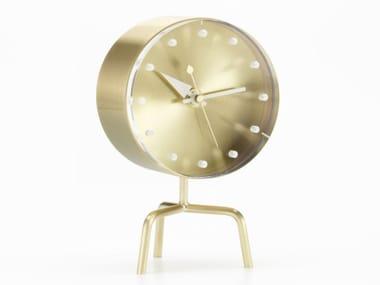Table-top brass clock TRIPOD CLOCK