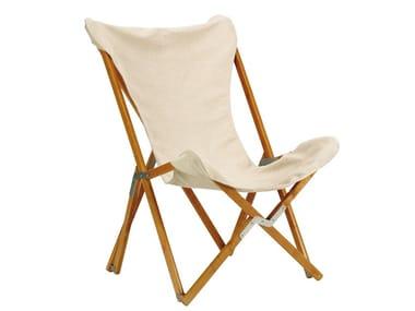 Garden folding ash easy chair TRIPOLINA