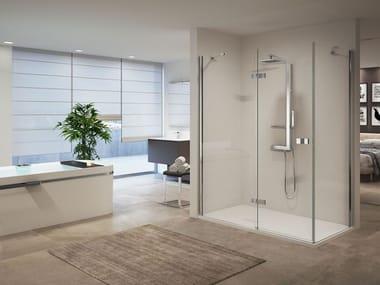 Box doccia angolare con porta scorrevole GALA | 2P + F