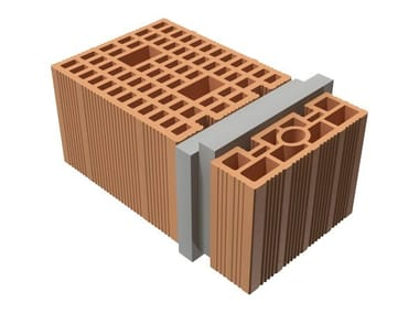 Loadbearing clay block TRIS® 44X25X19