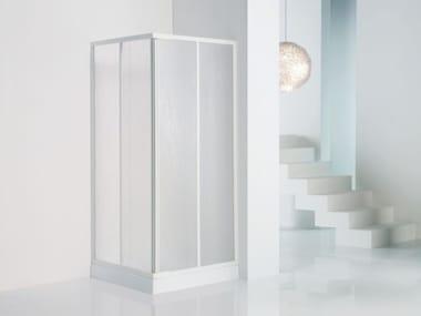 Box doccia angolare rettangolare in vetro acrilico in stile moderno con porta scorrevole TRIS | A