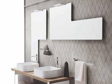 Wall-mounted bathroom mirror with integrated lighting TRIS