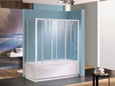 Box doccia angolare quadrato in vetro acrilico in stile moderno con porta scorrevole TRIS   V + VF