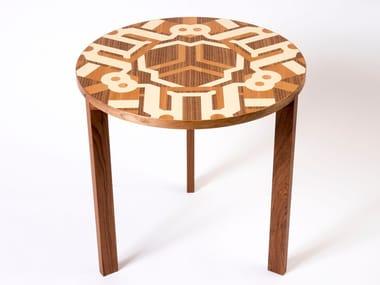 Tavolino da caffè rotondo in legno TRISTAR