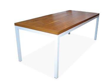 Tavolo da giardino in teak TROMONTO | Tavolo