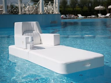 Eco-leather floating pool lounge TRONA | Floating chair