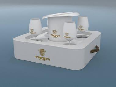 Imitation leather floating tray TRONA   Floating tray