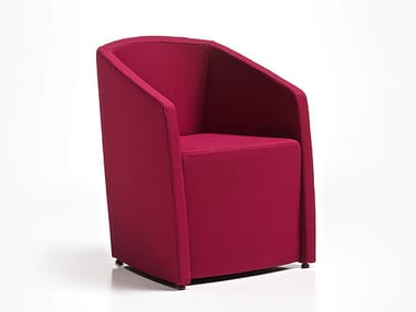 Upholstered armchair with armrests TRONIX | Armchair