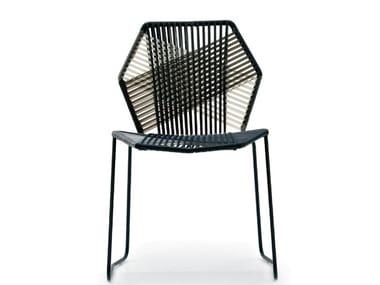 Sedia in filo tecnopolimero intrecciato TROPICALIA | Sedia