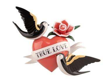 Contemporary style porcelain decorative object TRUE LOVE
