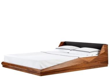Walnut double bed TRUSS