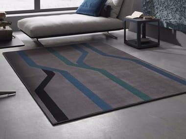 Contemporary style handmade rectangular synthetic fibre rug TUBE