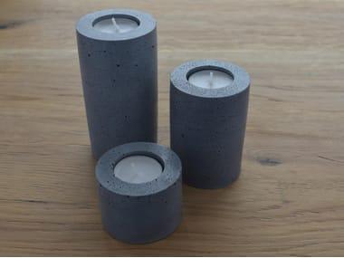 Concrete tube candlestick TUBE
