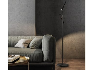 LED adjustable aluminium floor lamp TUBINO | Floor lamp