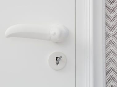 Aluminium door handle with lock TUCANO
