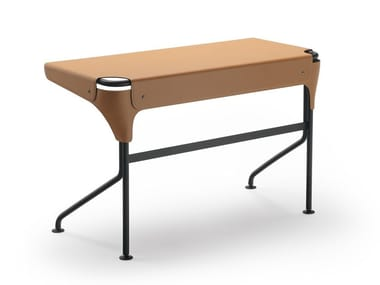 Steel and leather writing desk TUCANO
