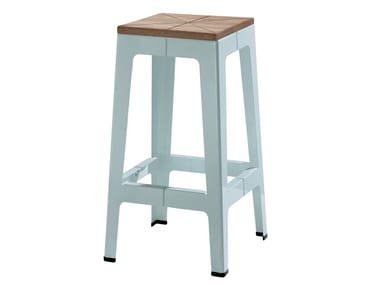 High stool with footrest TUCK | High stool