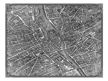 Rectangular rug TURGOT MAP OF PARIS | Rug