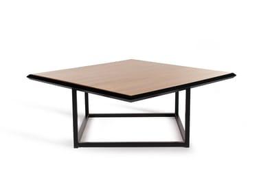 Mesa de centro baixa de café quadrada em aço TURN | Mesa de centro quadrada