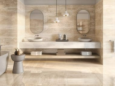 Porcelain stoneware wall/floor tiles with marble effect TUSCANIA