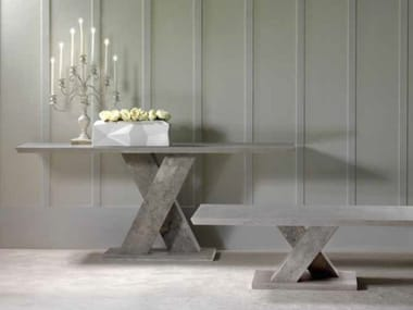 Rectangular marble console table TWID | Console table