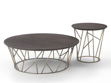 Round wooden coffee table TWIG | Wooden coffee table