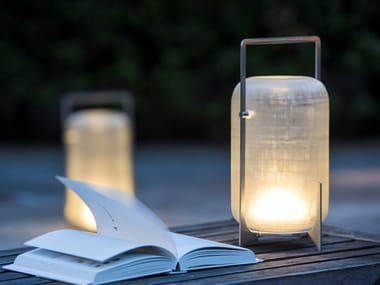 Led Gl And Stainless Steel Table Lamp Twilight