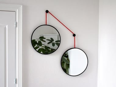 Round wall-mounted mirror TWINS