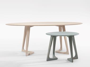 Mesa de centro de madeira maciça para sala de estar TWIST COUCH