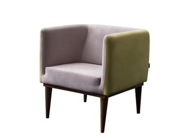 Fabric easy chair with armrests TWIST | Easy chair