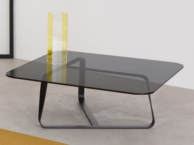 Crystal and steel coffee table TWISTER | Coffee table