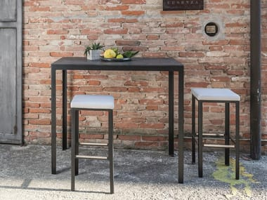 Square galvanized steel high table TYPE FOR OUT | High table