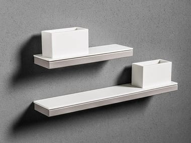 Corian® toothbrush holder / bathroom wall shelf TYPE | Toothbrush holder