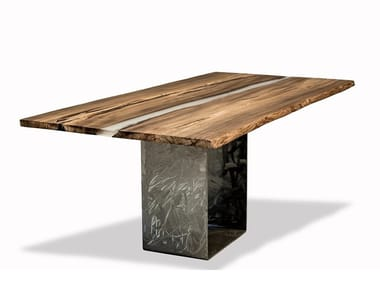 Rectangular elm fossil wood table TABULA RARITÀ | Table