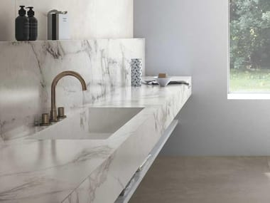 Porcelain stoneware washbasin countertop THE TOP BATHROOM
