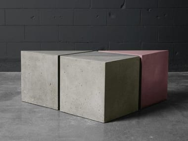 Concrete stool / coffee table Triangular coffee table