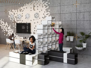 Open Modular office shelving U-CUBE | Modular office shelving