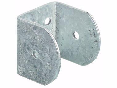 Supporto a muro ad U in acciaio zincato Supporto a muro ad U