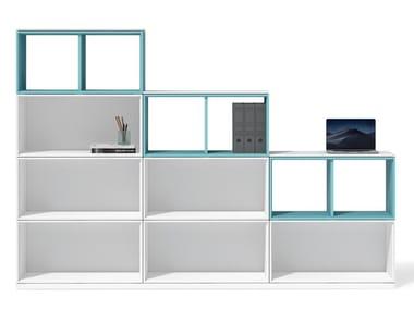 Libreria ufficio autoportante modulare in legno UBI EVO | Libreria ufficio