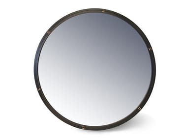 Round oak mirror UBLO | Wall-mounted mirror