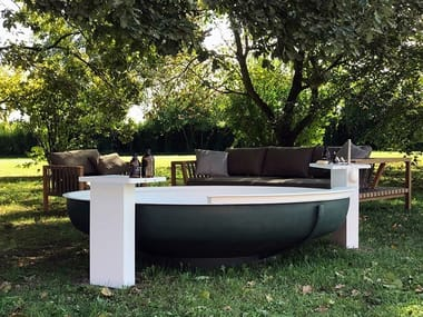 Outdoor stainless steel bathtub UFO OUTDOOR