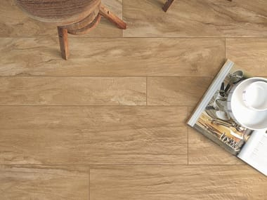 Porcelain stoneware wall/floor tiles with wood effect ULIVO