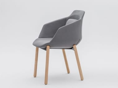 Fabric chair with armrests ULTRA P8