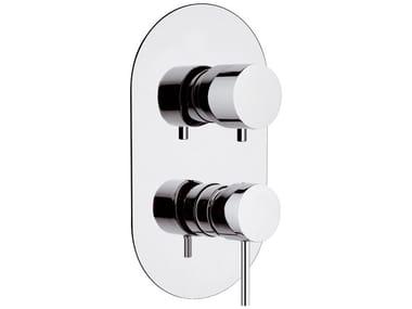 Miscelatore per doccia da incasso monocomando in ottone con deviatore ULTRAMINIMAL | Miscelatore per doccia da incasso