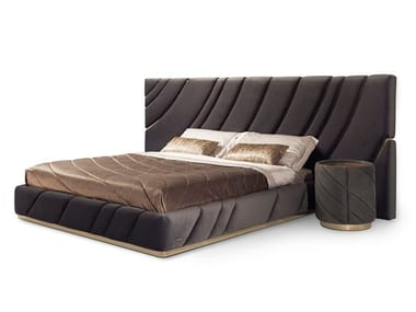 Fabric double bed with upholstered headboard ULTRASOUND | Bed