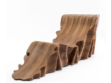 Rosewood lounge chair UNA | Lounge chair